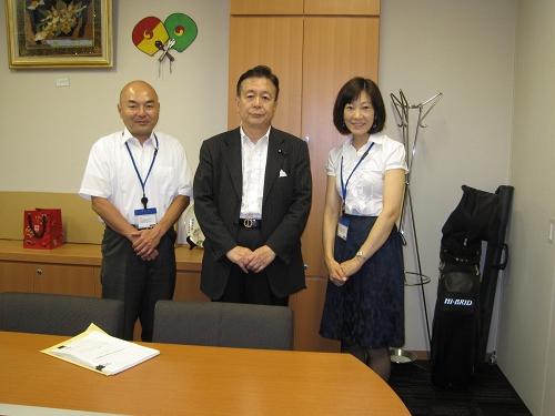 7月11日 渡辺浩一郎先生と共に